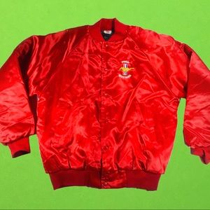 Vintage Whang Ford Mustang satin red jacket